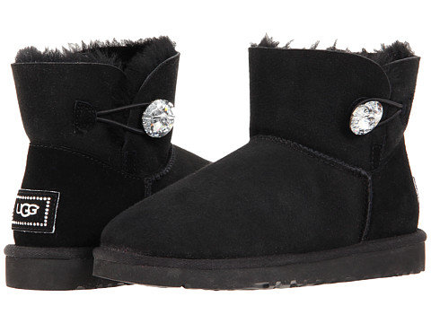 UGG MINI BAILEY BUTTON BLING BOOT Black-25