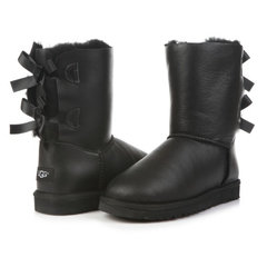 UGG Bailey Bow Metallic Black-97