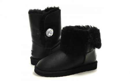 UGG Bailey Button Bling Leather Black-11
