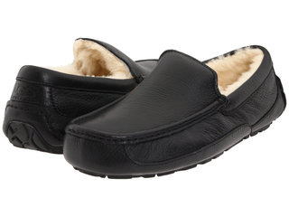 Мужские UGG Ascot  Leather Black-106