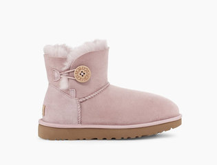 UGG MINI BAILEY BUTTON II BOOT PINK CRYSTAL-113