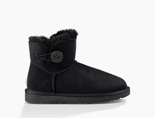 UGG MINI BAILEY BUTTON II BOOT Black-1